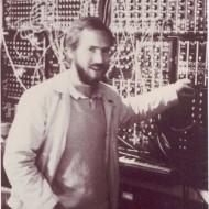 Bertrand devant le Moog de Klaus Schulze en 1984